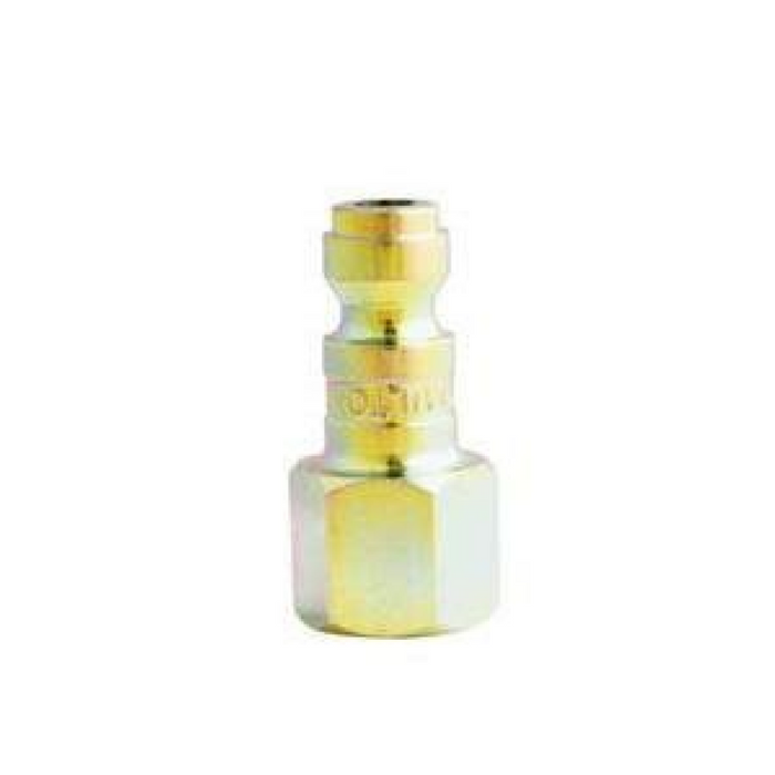 "Milton 784S 1/4"" X 1/4"" Female NPT T Style Air Nipple"