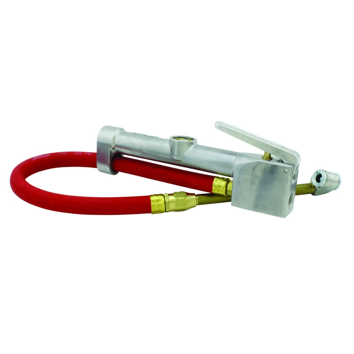 "Milton S-506 Inflator Gage with Dual Head Chuck - 15"" Hose"