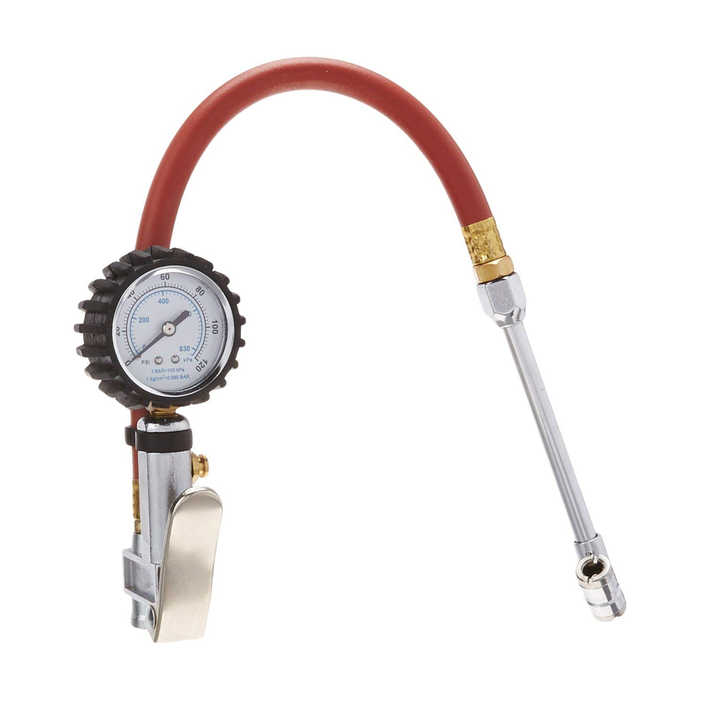 S & G Tool Aid 65110 Dual Head Tire Inflator Dial Gauge