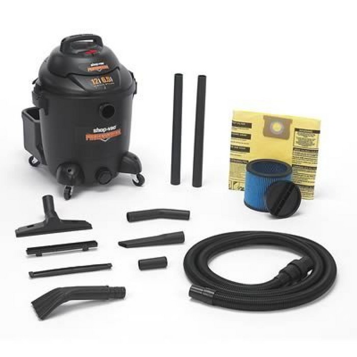 Shop Vac 9621210 12 Gallon Automotive Professional Wet/Dry Vacuum - Free Shipping