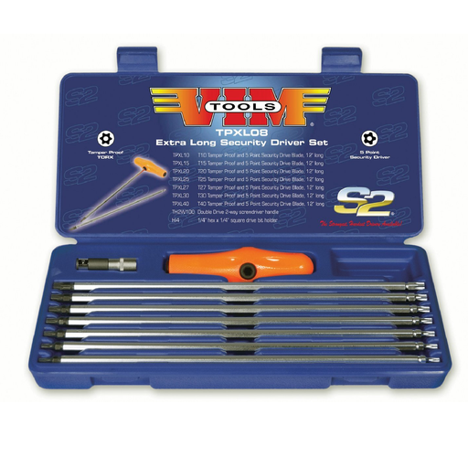 Vim Tools TPXL08 5-Point Extra Long Security Driver Set