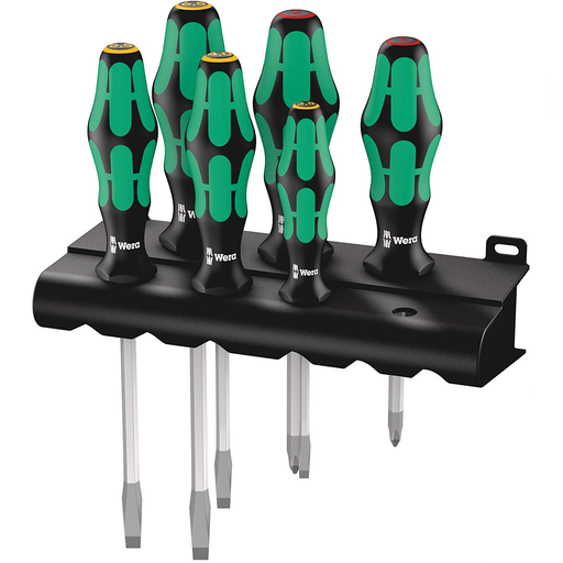 Wera Tools 5105650001 Laser tip Ergonomic Screwdriver Set