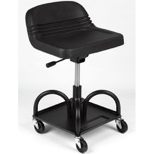 Whiteside 48004 Adjustable Height Black Heavy Duty Padded Shop Seat - Free Shipping