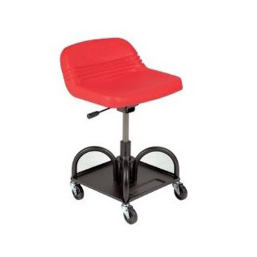 Whiteside 48005 Adjustable Height Red Heavy Duty Padded Shop Seat