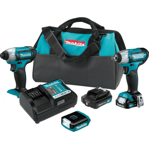 Makita CT324 12 Volt MAX CXT Lithium-Ion Cordless 3 Piece Combo Kit