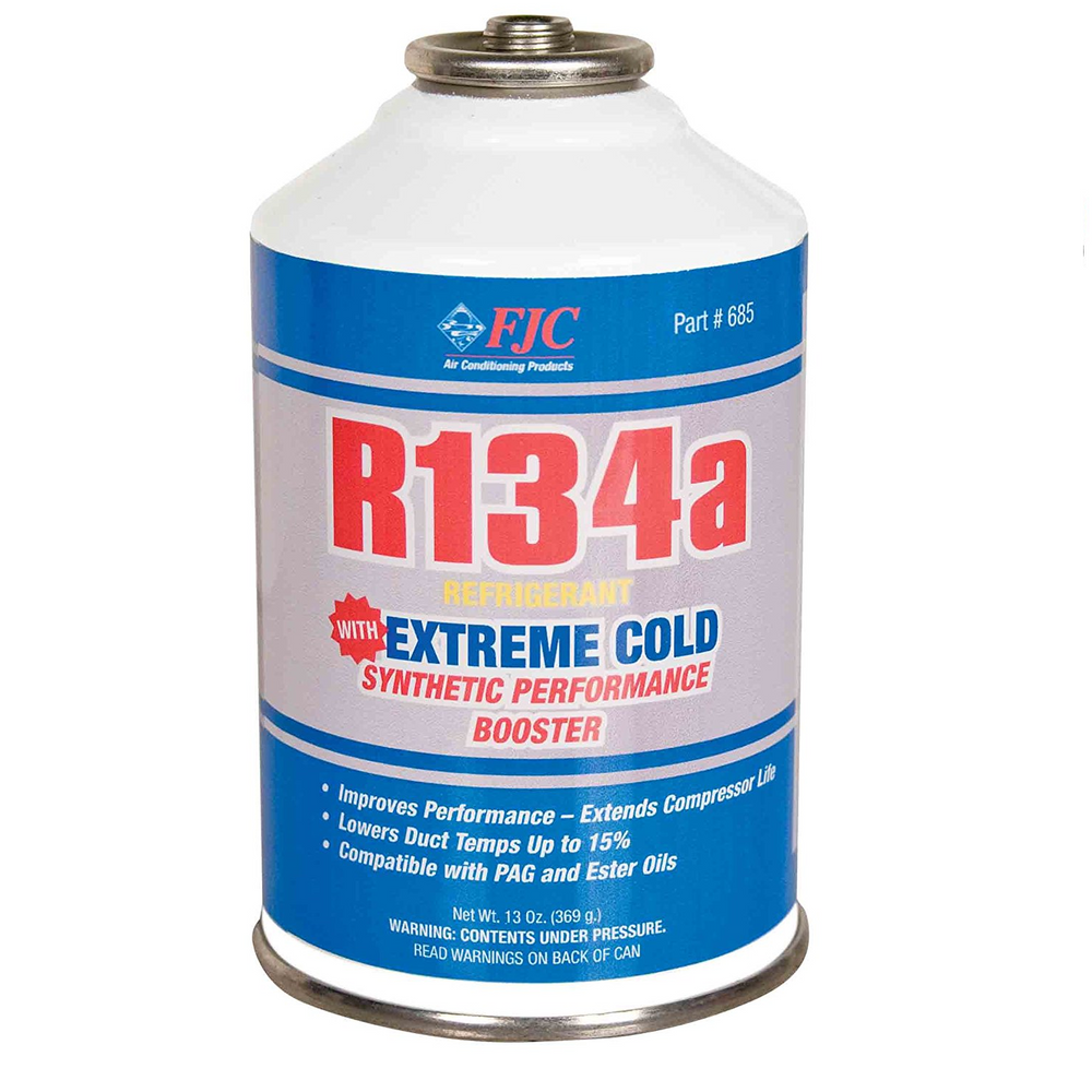 FJC 685 R134a with Extreme Cold Synthetic Performance Booster - 13 oz.