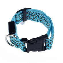 Leopard print LED Dog Collar