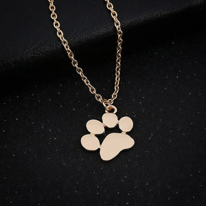 Big Paw Pendant Necklace