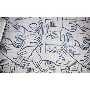 Hands heavy linen fabric