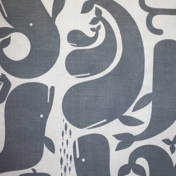 Whales-linen fabric