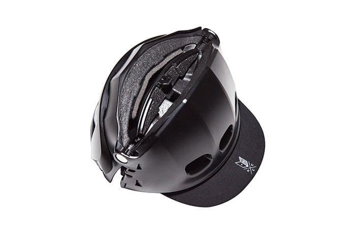 Black Collapsible V2 Helmet - Martone Cycling Co.