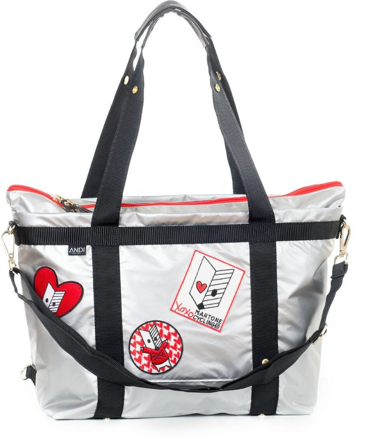 Andi x Martone Transformer Tote - SILVER - Martone Cycling Co.
