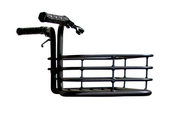 Handlebar Basket - in aluminum - FITS ANY BIKE - different color options. - Martone Cycling Co.