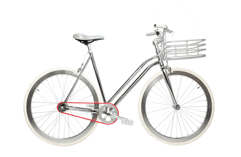 Regard V3 Silver With Basket - Martone Cycling Co.