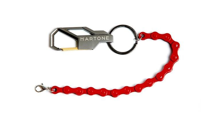 Keyring with red chain - Martone Cycling Co.