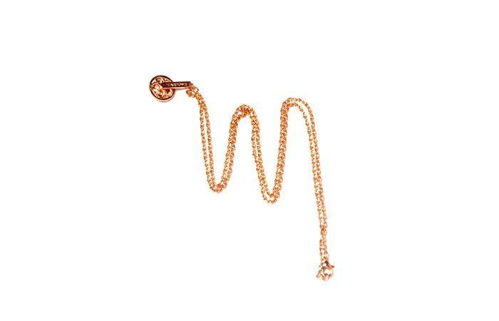 Martone Rose Gold Necklace with bike charm. Unisex, platted. - Martone Cycling Co.