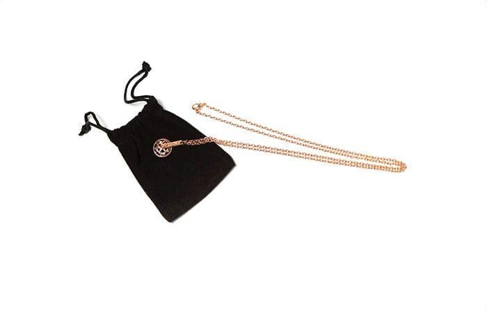 Martone Rose Gold Necklace with bike charm. Unisex, platted.