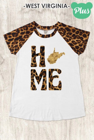 Plus WV Leopard Accent Tee