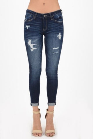 Kelsey Premium Distressed Denim