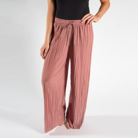 Dust Rose Breathable Pant with Tie String