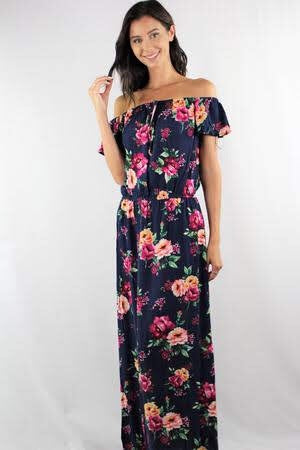 Loralei Floral Off The Shoulder Maxi