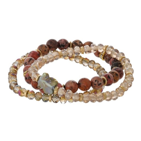 Stack Stretch Natural Bead Bracelets