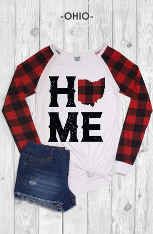 Plaid Ohio State Flannel Sleeve shirt