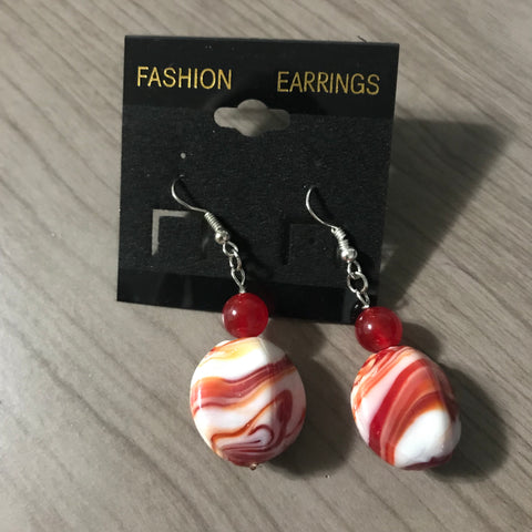 Red Carnelian Stone Earrings