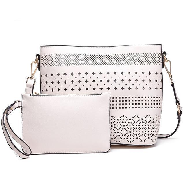 New Summer Cross Body Shoulder Bag with Matching Clutch Bag