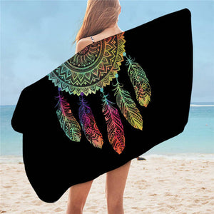 Serviette de plage attrape rêve rectangle