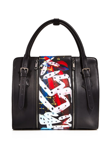 Kiss Large Leather Satchel