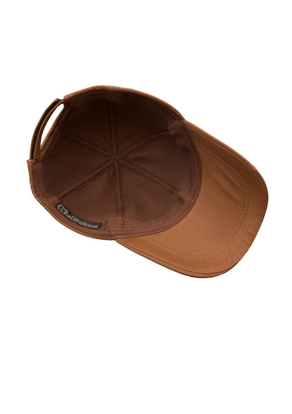Leather Baseball Cap - Cognac