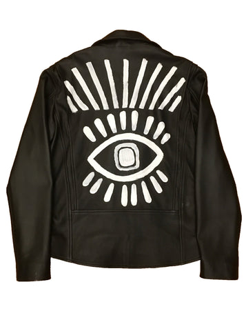 Eye of Providence Leather Biker