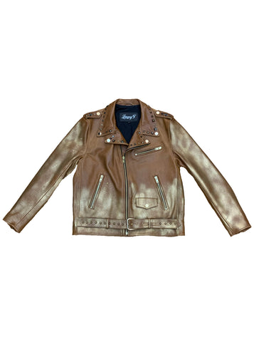 Gold Rush Leather Biker