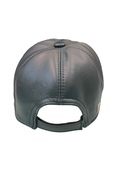 Leather Baseball Cap - Dark Green