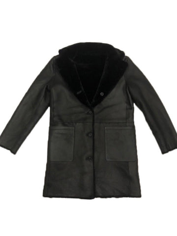 Reversible Slim Shearling Coat