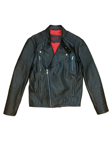 Levent Leather Moto Jacket