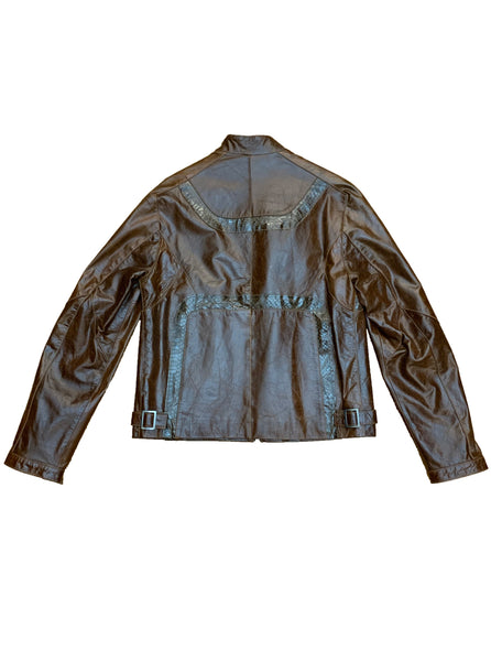 Leather Jacket With Python