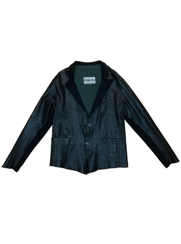 Garment Dye Leather Blazer