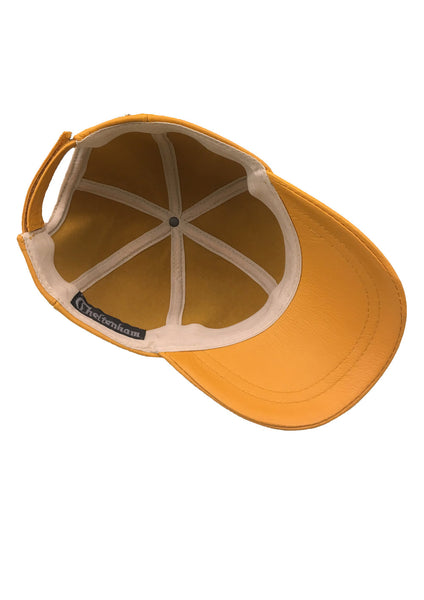 Leather Baseball Cap - Yellow