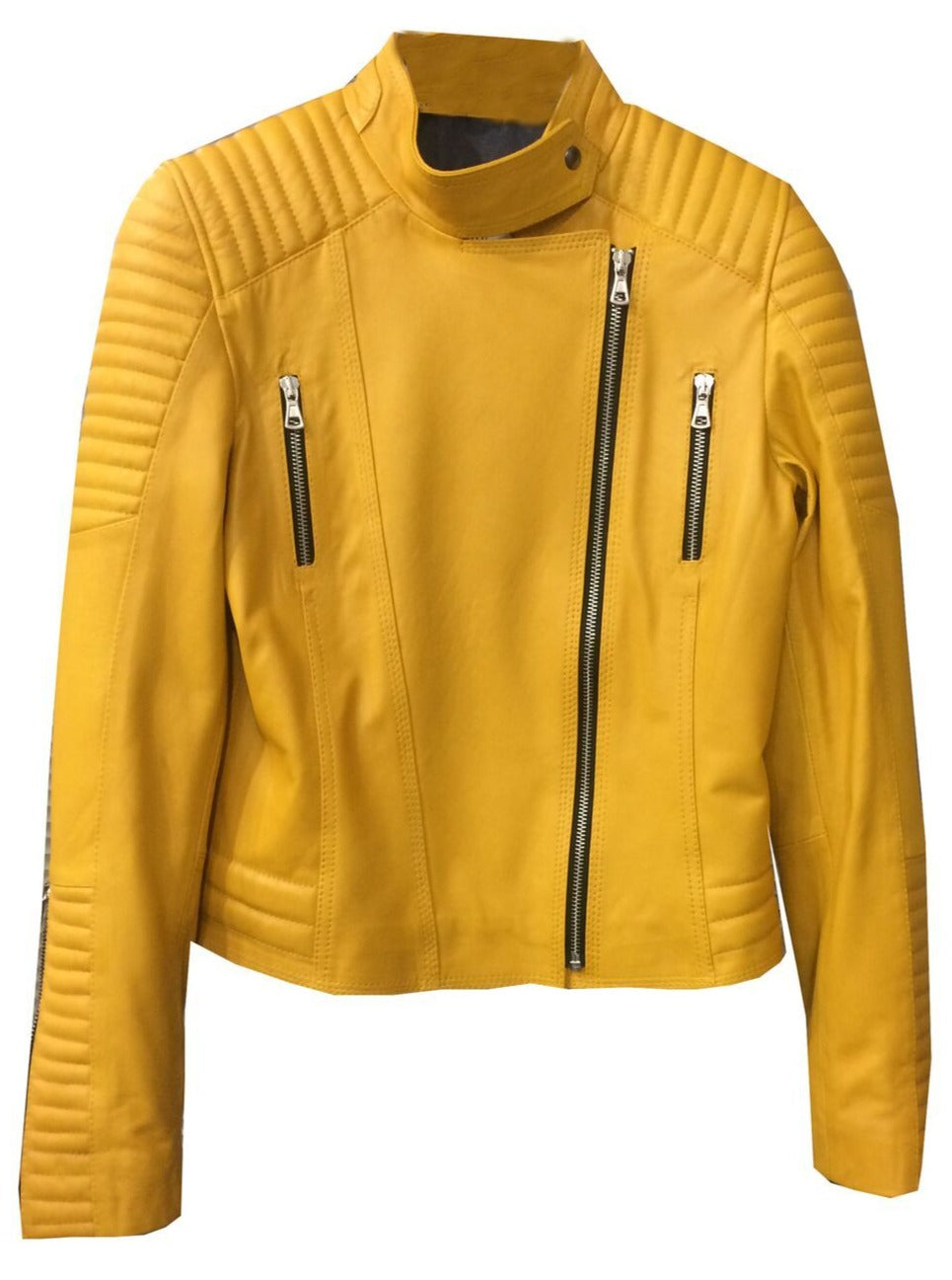 Love Flowers Moto Jacket- Yellow