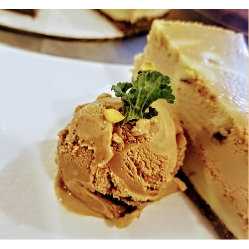Vegan Blue Mountain Coffee and Pistachio Cheesecake
