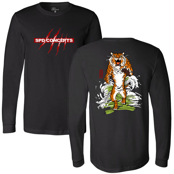 Leaping Tiger Long Sleeve Tee