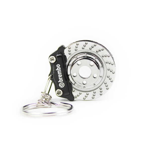 Black Brembo Brake KeyChain SPD
