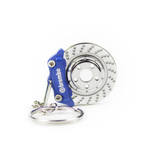 Blue Brembo Brake Keychain SPD