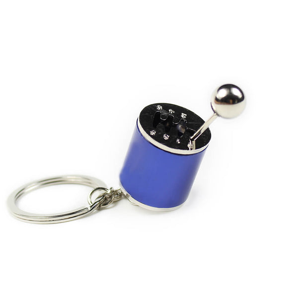 Blue Gear Shift Keychain SPDConcepts