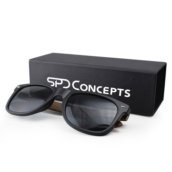 Walnut Wood Sunglasses with Box SPDConcepts