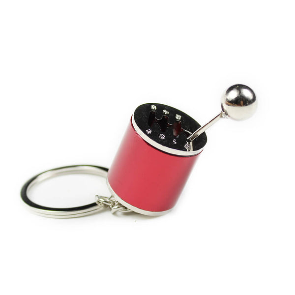 Red Gear Shift Keychain SPDConcepts