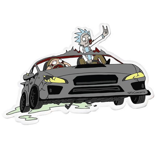 Rick and Morty Inspired WRX Decal - SPDConcepts
