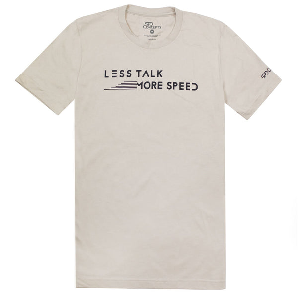 Less Talk More Speed Tan Tee